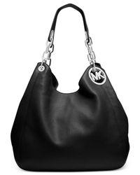 Michael Kors - Black Fulton Large Leather Tote - Lyst