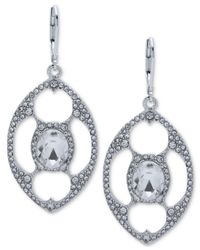 Anne Klein - Metallic Crystal Openwork Orbital Drop Earrings - Lyst