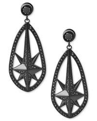 Michael Kors | Black Ion-plated Pavé Starburst Drop Earrings | Lyst
