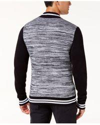 American Rag - Black Men's Full-zip Varsity Sweater Jacket for Men - Lyst