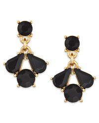 Charter Club - Metallic Gold-tone Jet Stone Drop Earrings - Lyst