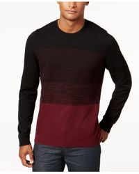 Alfani - Black Men's Colorblocked Sweater for Men - Lyst