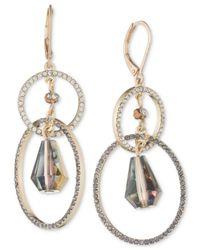 Lonna & Lilly | Metallic Gold-tone Crystal Orbital Double Drop Earrings | Lyst