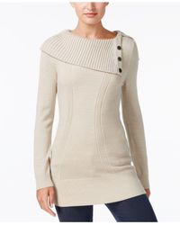 Style & Co. - Multicolor Envelope-neck Sweater, Created For Macy's - Lyst