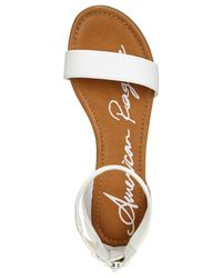 American Rag - Ar35 Keley Ankle Strap Flat Sandals, White - Lyst