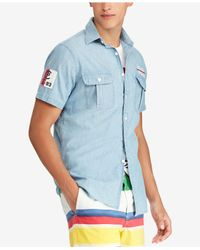 Polo Ralph Lauren - Blue Classic-fit Chambray Cp-93 Shirt, Created For Macy's for Men - Lyst
