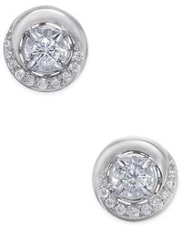Macy's - Metallic Diamond Swirl Stud Earrings (1/4 Ct. T.w.) In 14k Rose Or White Gold - Lyst