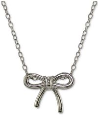 Giani Bernini - Metallic Bow Pendant Necklace In 18k Gold-plated Sterling Silver - Lyst