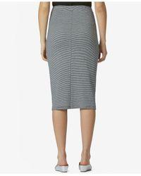 Avec Les Filles - Gray Cotton Knit Pencil Skirt - Lyst