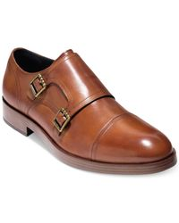 Cole Haan - Brown Henry Grand Double-monk Strap Oxfords Created For Macy's for Men - Lyst