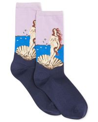 Hot Sox - Multicolor Trouser With Artist Print Socks - Lyst