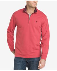 Izod - Red Men's Nauset Pullover Fleece Sweatshirt for Men - Lyst