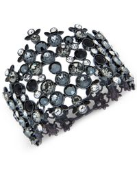 Givenchy - Multicolor Clear & Colored Stone Wide Flex Bracelet - Lyst