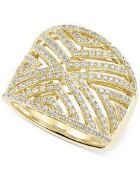 Effy Collection - Metallic D'oro By Effy Diamond Geometric Ring (3/4 Ct. T.w.) In 14k Gold - Lyst