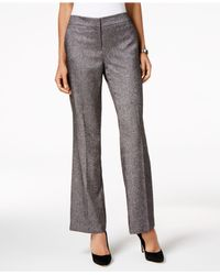Nine West - Black Straight-leg Pants - Lyst