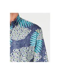 Reyn Spooner - Blue Osaka Dream Reverse-print Pocket Shirt for Men - Lyst