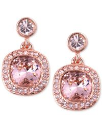 Givenchy | Earrings, Rose Gold-tone Swarovski Light Pink Stone Drop Earrings | Lyst