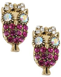 Betsey Johnson | Blue Shell Shocked Turtle Stud Earrings | Lyst