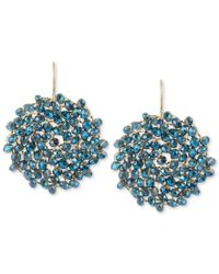 Kenneth Cole | Blue Earrings, Gold-tone Woven Faceted Bead Round Drop Earrings | Lyst