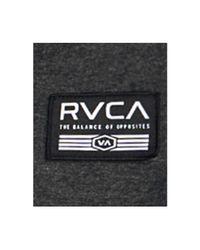 RVCA | Black Men's Heathered Logo Hoodie for Men | Lyst