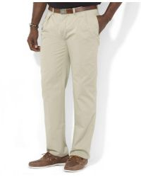 Polo Ralph Lauren | Brown Men's Big And Tall Pants, Ethan Classic-fit Pleated Chino Pants for Men | Lyst