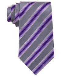 Kenneth Cole Reaction | Purple Tony Stripe Tie for Men | Lyst
