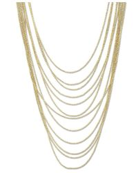 2028 - Metallic Gold-tone Multi-row Chain Necklace, A Macy's Exclusive Style - Lyst