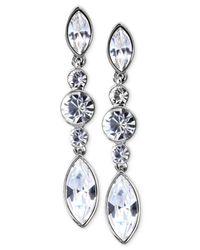 Givenchy - Metallic Silver-tone Swarovski Element Linear Drop Earrings - Lyst