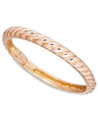 Macy's   Metallic 14k Rose Gold Polished Cable Ring   Lyst