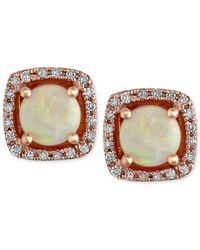 Effy Collection   Metallic Opal (3/4 Ct. T.w.) And Diamond (1/8 Ct. T.w.) Stud Earrings In 14k Rose Gold   Lyst