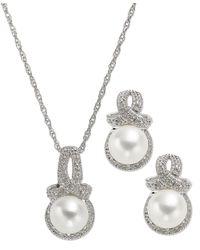Macy's - Diamond Aries Zodiac Pendant Necklace In 10k White Gold (1/10 Ct. T.w.) - Lyst