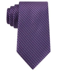 Michael Kors | Purple Michael Neat Tie for Men | Lyst