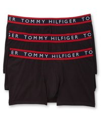 Tommy Hilfiger | Black Men's Stretch Trunks 3-pack for Men | Lyst