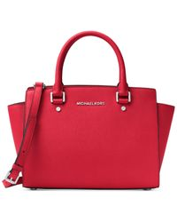 Michael Kors | Red Michael Selma Medium Satchel | Lyst
