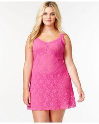 Hanky Panky | Pink Plus Size Signature Lace Chemise 485214x | Lyst