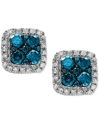 Effy Collection - Metallic Diamond Stud Earrings (3/4 Ct. T.w.) In 14k White Gold - Lyst