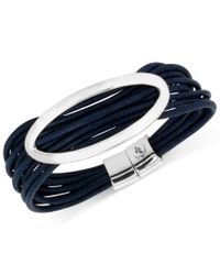 Kenneth Cole | Silver-tone Blue Multi-cord Bracelet | Lyst