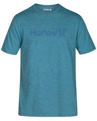 Hurley | Blue Men's One & Only Push Through T-shirt for Men | Lyst