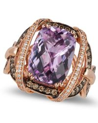 Le Vian   Purple Amethyst (5-2/4 Ct. T.w.) And Diamond (3/4 Ct. T.w.) Ring In 14k Rose Gold   Lyst
