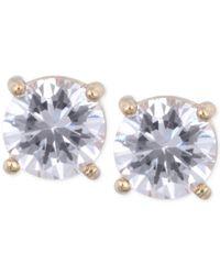 Anne Klein   Metallic Gold-tone Crystal Stud Earrings   Lyst