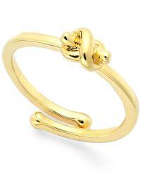 kate spade new york | Metallic Love Knot Adjustable Ring | Lyst