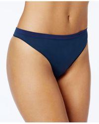 Calvin Klein - Blue Pure Seamless Thong Qd3544 - Lyst