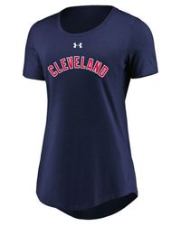 Under Armour - Blue Cleveland Indians Team Font Scoop T-shirt - Lyst