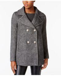 INC International Concepts - Gray Faux-fur-trim Walker Coat - Lyst