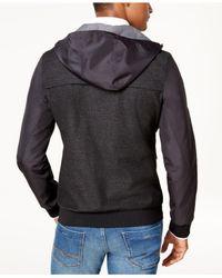 Vince Camuto - Multicolor Men's Slim-fit Hooded Windbreaker for Men - Lyst