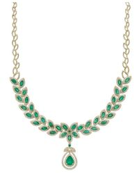 Effy Collection | Green Brasilica By Effy Emerald (11-3/4 Ct. T.w.) And Diamond (2-3/4 Ct. T.w.) Pendant Necklace In 14k Gold | Lyst