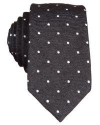 Original Penguin   Black Original Banville Dot Tie for Men   Lyst