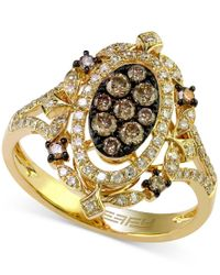 Effy Collection - Metallic Effy Espresso And White Diamond Ring (2/3 Ct. T.w.) Ring In 14k Gold - Lyst