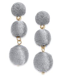 INC International Concepts - Metallic Gold-tone Threaded Ball Drop Earrings - Lyst