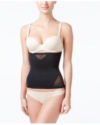 Miraclesuit | Black Sexy Sheer Shaping Extra Firm Control Waist Cincher 2786 | Lyst